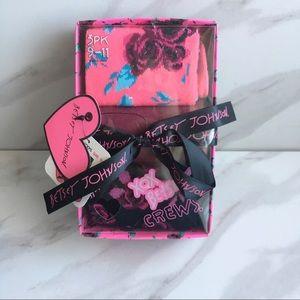 BETSEY JOHNSON 3 Pack Floral Print Gift Pack Socks
